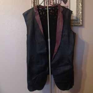 Touch Tough Tacky Leather Mesh Back Vest